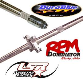 RPM Dominator, Lone Star Axcalibar and Durablue Eliminator Axles