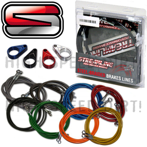 Polaris Outlaw Streamline front brake lines & clamps