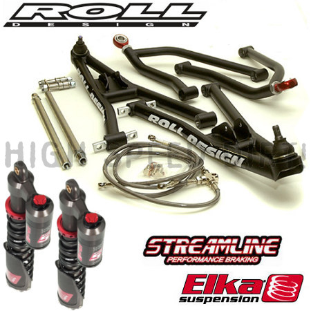 YFZ450R ROLL DESIGN A-Arms & Elka Stage 5 Package