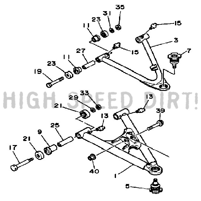 1987 Yamaha Warrior Frap Ball Joint 2874