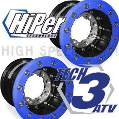 Yamaha YFZ450 Hiper Tech3 10x9 3+6 SBL Blue Pair