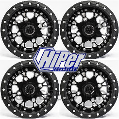 (4) Polaris Rzr 14-in Fusion CF-Billet Ctr rim SBL