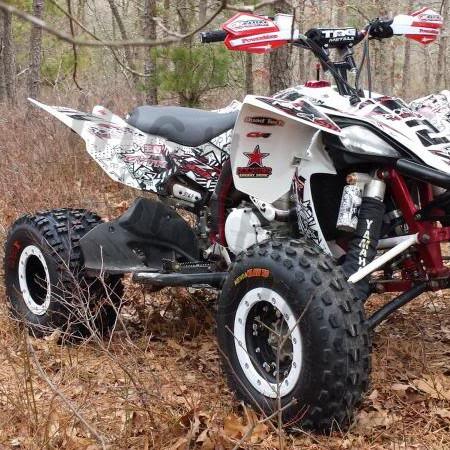 Yamaha Raptor 700 Tech3 10x5 SBL 8x8 DBL WH Set