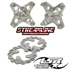 Lone Star Racing Front Hubs Streamline Rotors PKG