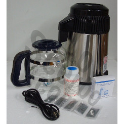 MegaHome Water Distiller Stainless Black Glass