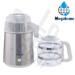 MegaHome Water Distiller Stainless White Glass