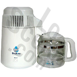 MegaHome Water Distiller White Glass make pure H2O