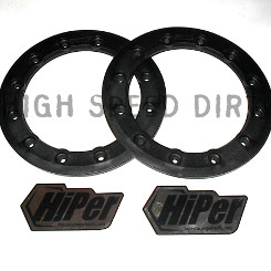Free Shipping HiPer 8 inch rings black pair