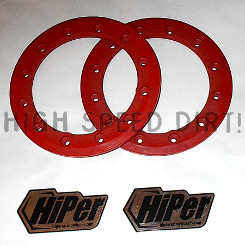Free Shipping - HiPer 8 inch rings red pair