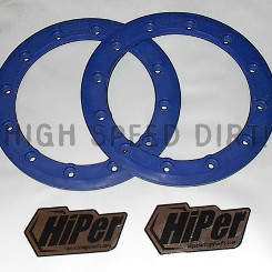 Free Shipping - HiPer 9 inch rings blue pair