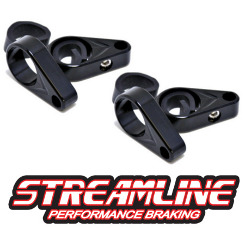 ATV Brake Line Clamps 3/4 or 1inch - 2 PAIR