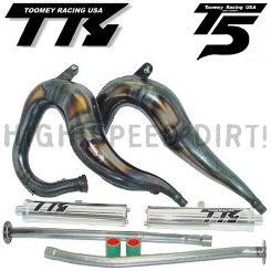 Toomey Racing T5S Steel Banshee YFZ350 Pipes