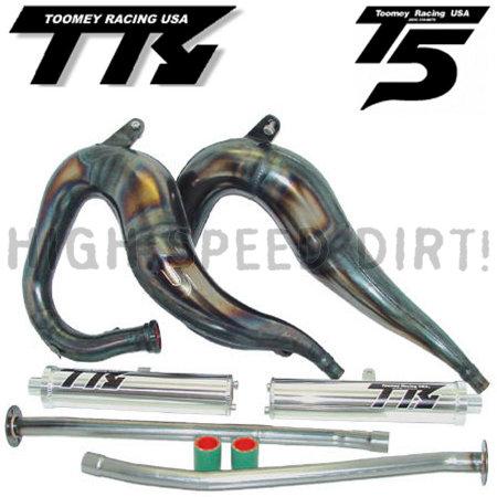 KIMISS Exhaust Pipe Kit,Stainless Steel Exhaust Pipe Muffler Bracket Fit for Banshee 350 YFZ350 YFZ 350 1987-2006