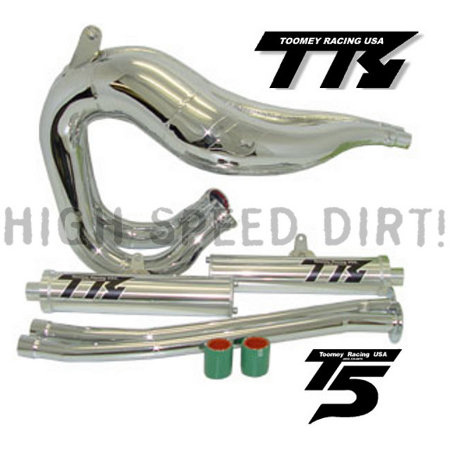 Toomey Racing T5SC Chrome Set Banshee YFZ350 Pipes