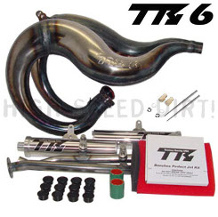 Banshee Toomey Racing T6K Steel Kit Pipes