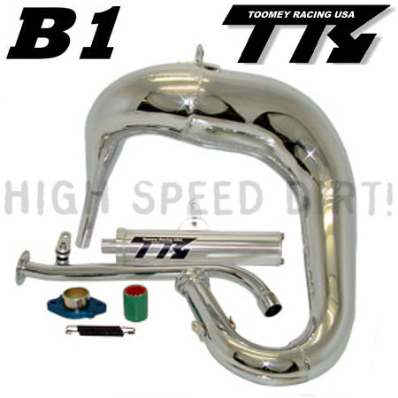 Toomey B1SC Yamaha Blaster Set Chrome pipe