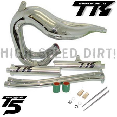 Toomey T5SCJ Chrome Set Banshee Pipes Jets