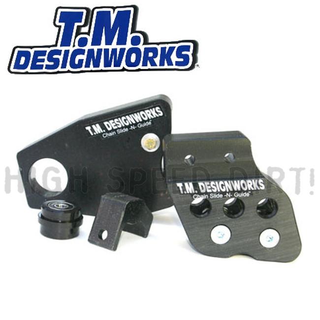 TM Front Swingarm Protector Honda TRX250R Black 88 89