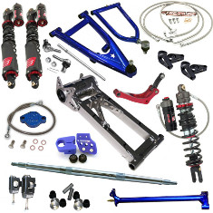 Laeger's Racing, Lone Star Racing, Elka Stage 5 A-arms Swingarm Shocks Stem