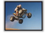 jumping Suzuki IRS LT250
