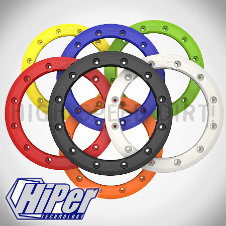 Hiper Bead Lock Ring Colors Yellow, Blue, Green, Black, Red, Orange and White