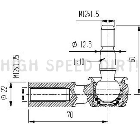 Honda Frap Lower Ball Joint Drawing