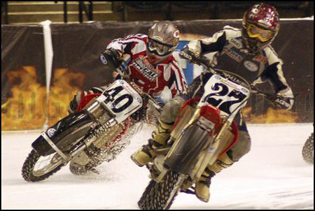 Hockey Arena Indoor Motorcycle Ice Racing