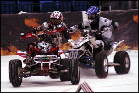 Hockey Arena Indoor ATV Ice Racing