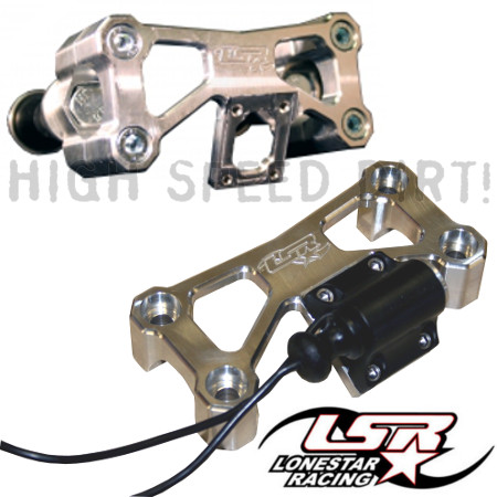 Lonestar Racing Billet handlebar top half clamp with built in tether kill switch mounting plate